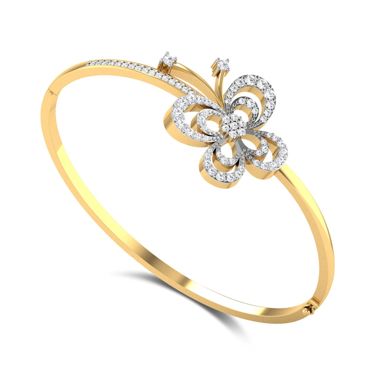Blaise Butterfly Openable Diamond Bangle