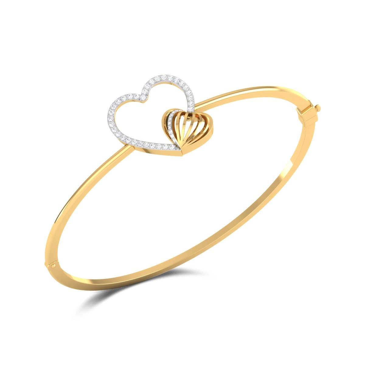 Manini Diamond Heart Bracelet