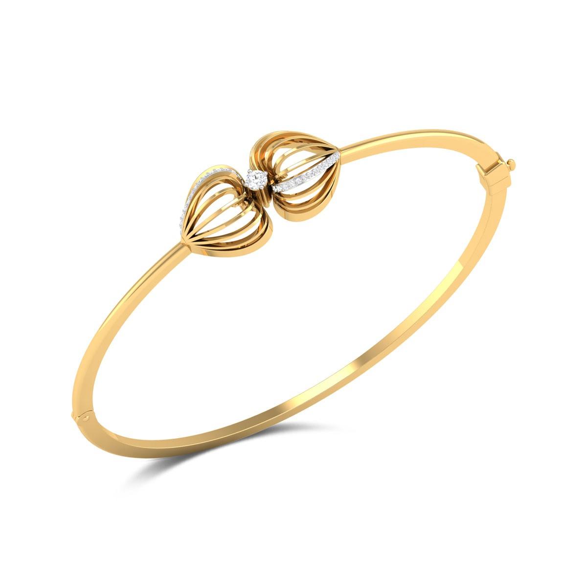 Naiomi Diamond Heart Bracelet