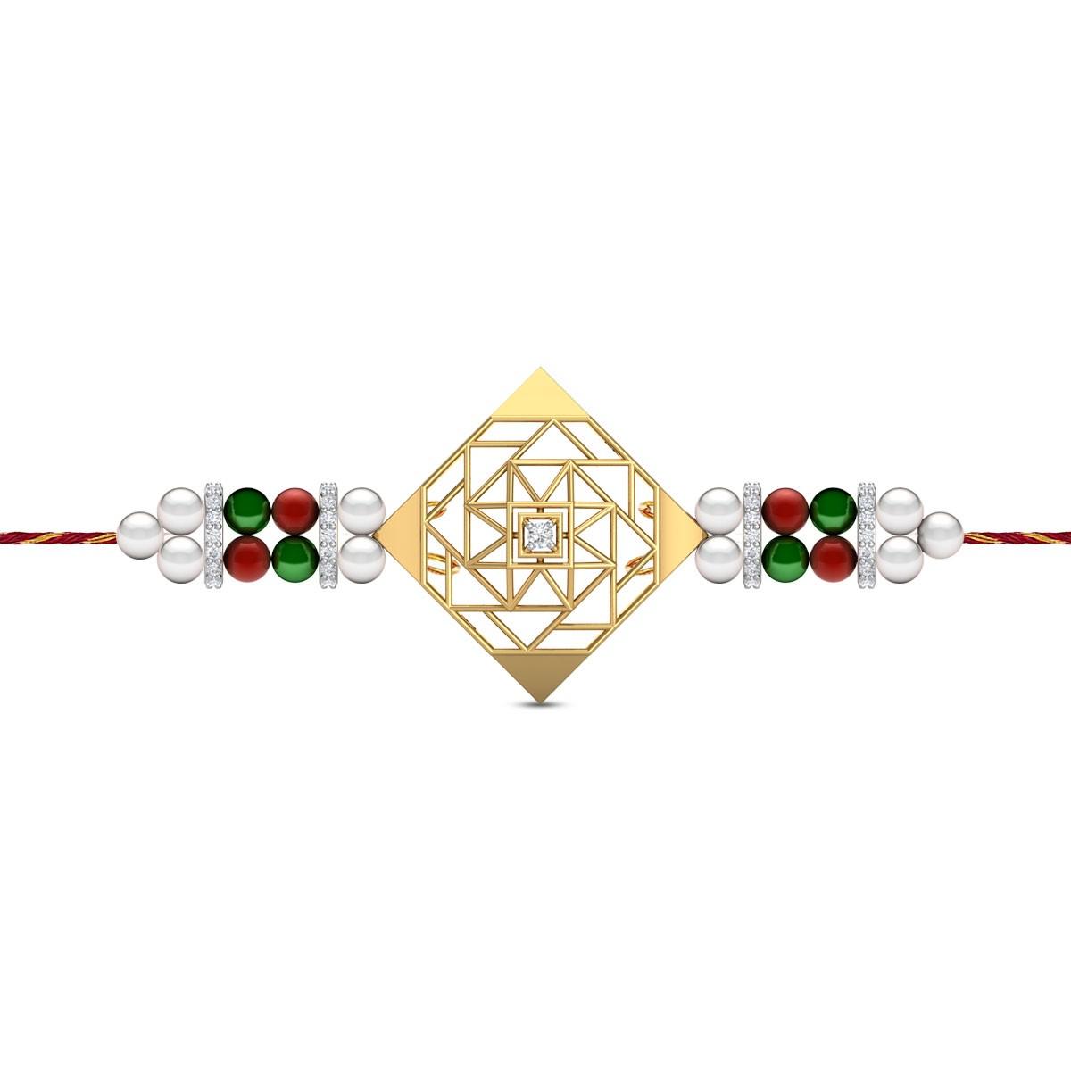 Kith & Kin Diamond Rakhi Set