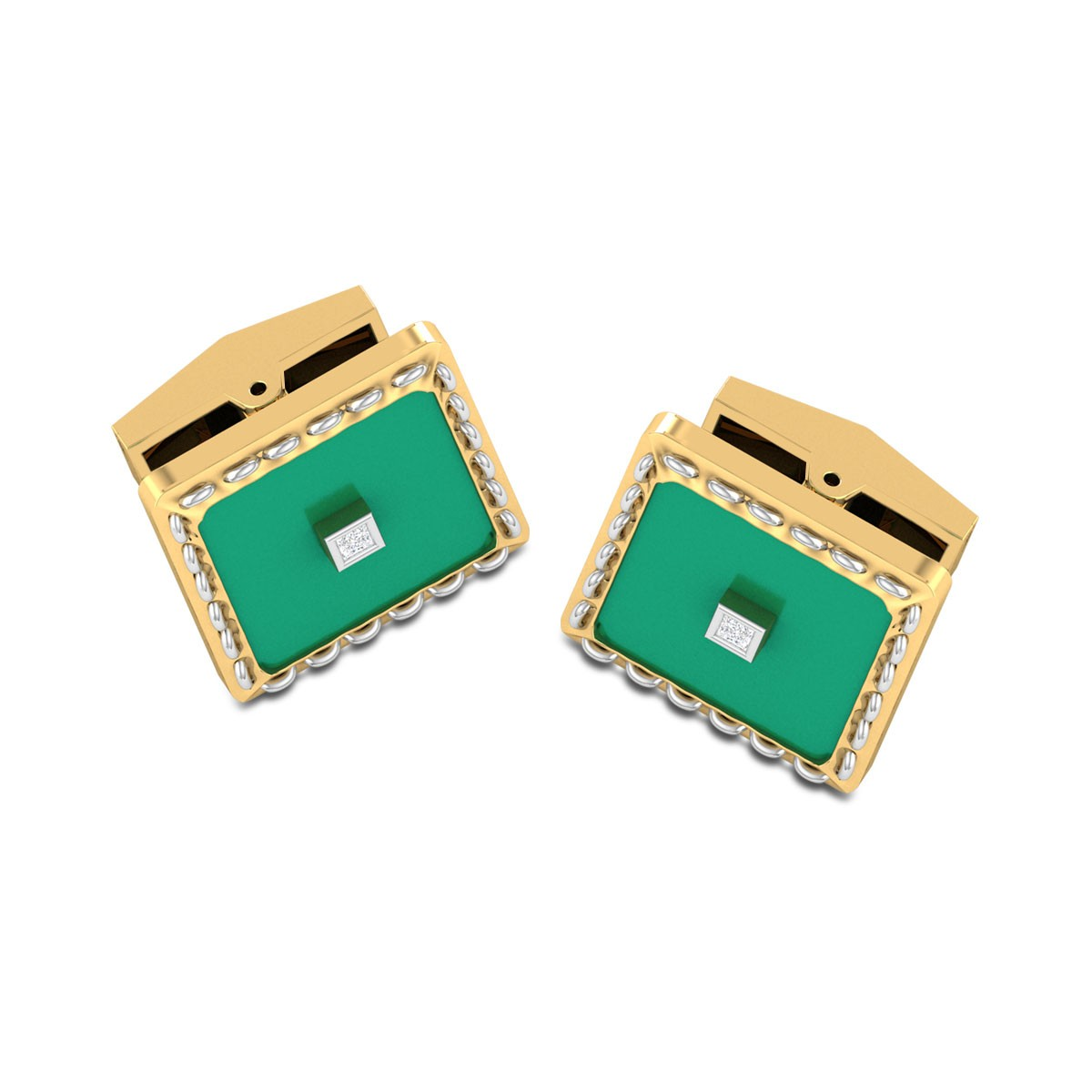 Aryan Square Diamond Cufflinks