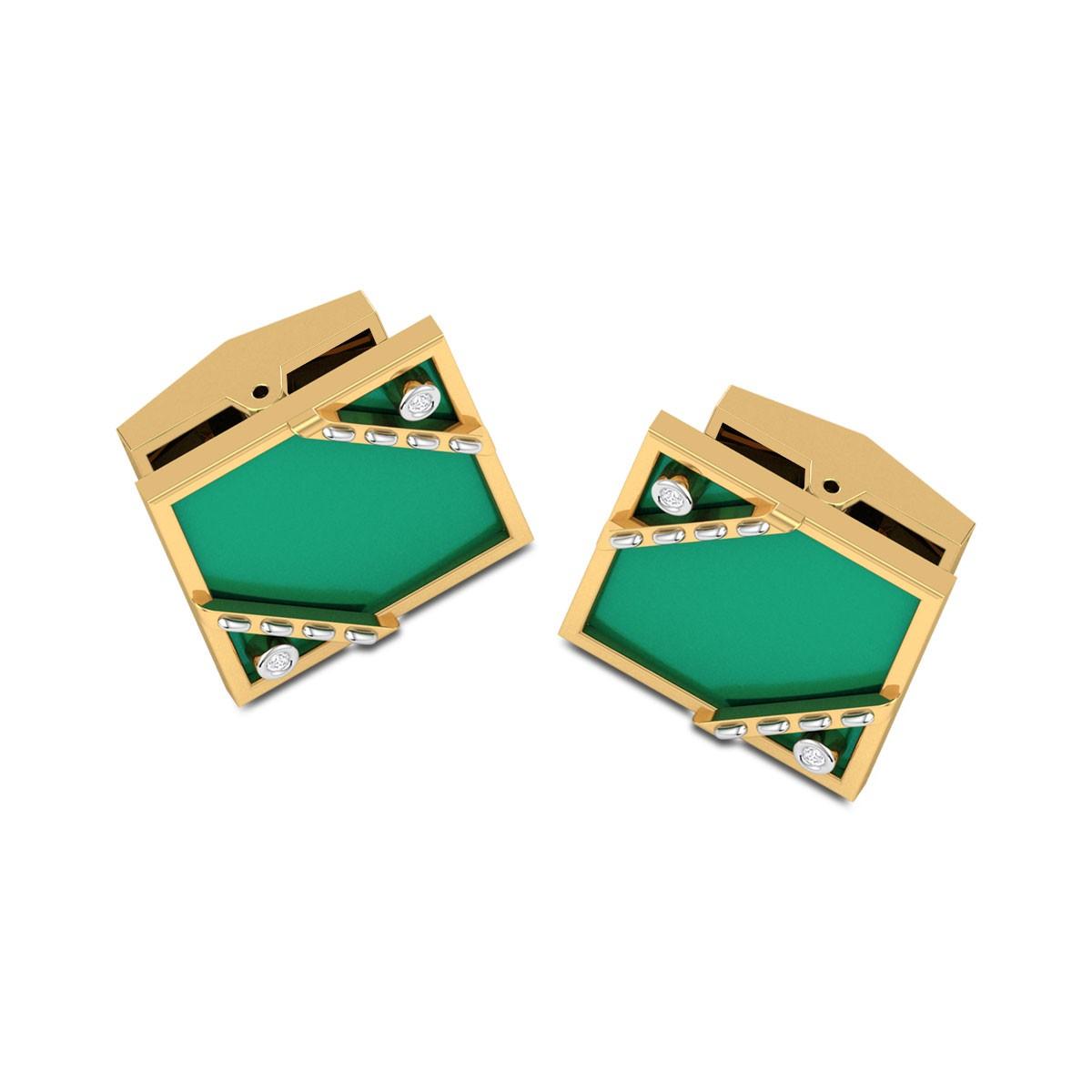 Shaurya Square Diamond Cufflinks