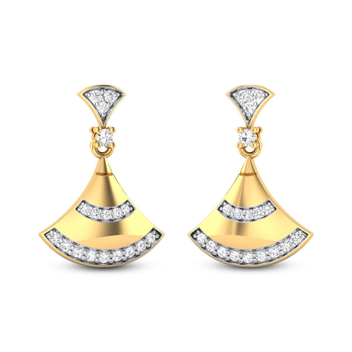 Tiana Diamond Hanging Earrings
