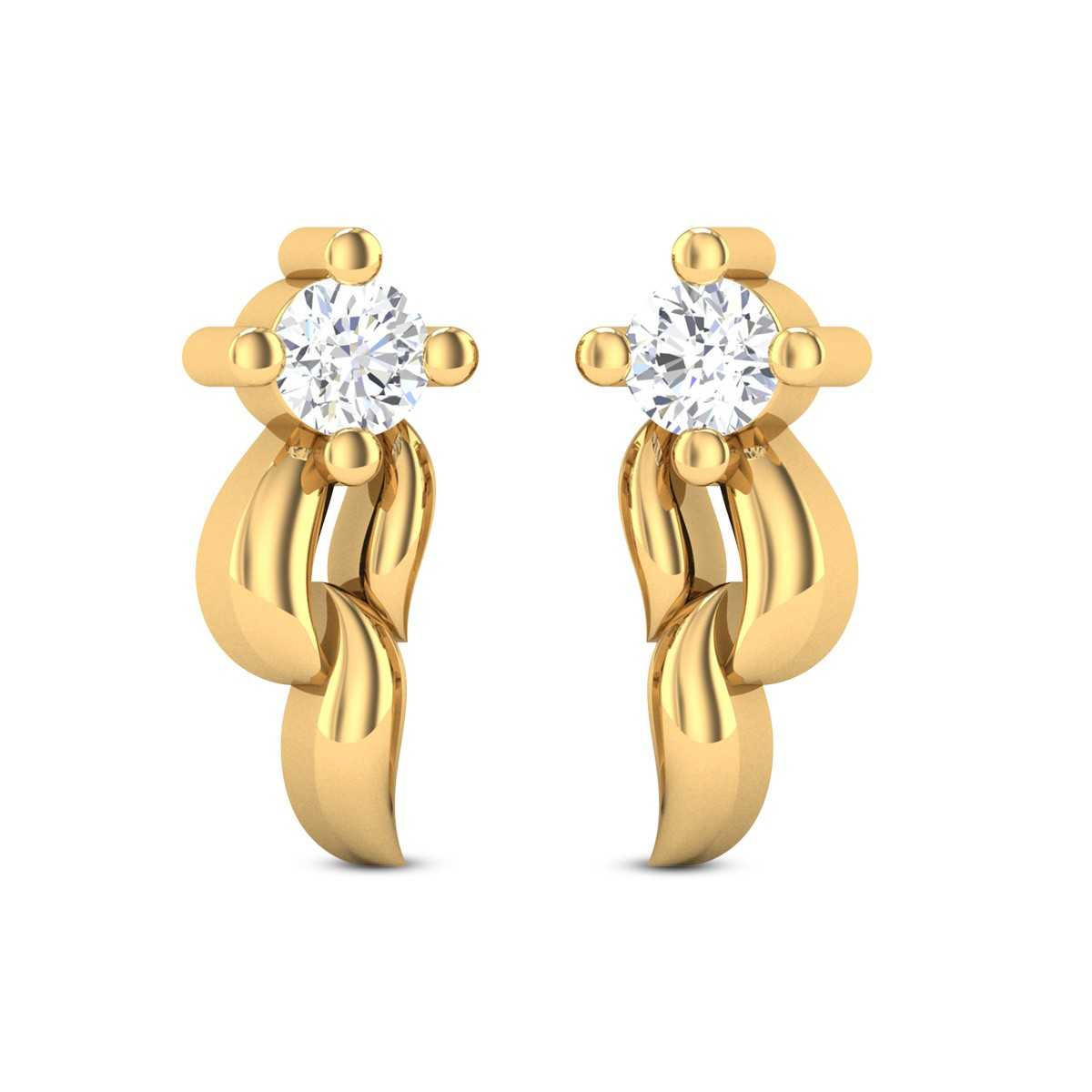 Jasmine Diamond Studded Gold Earrings DJER5154