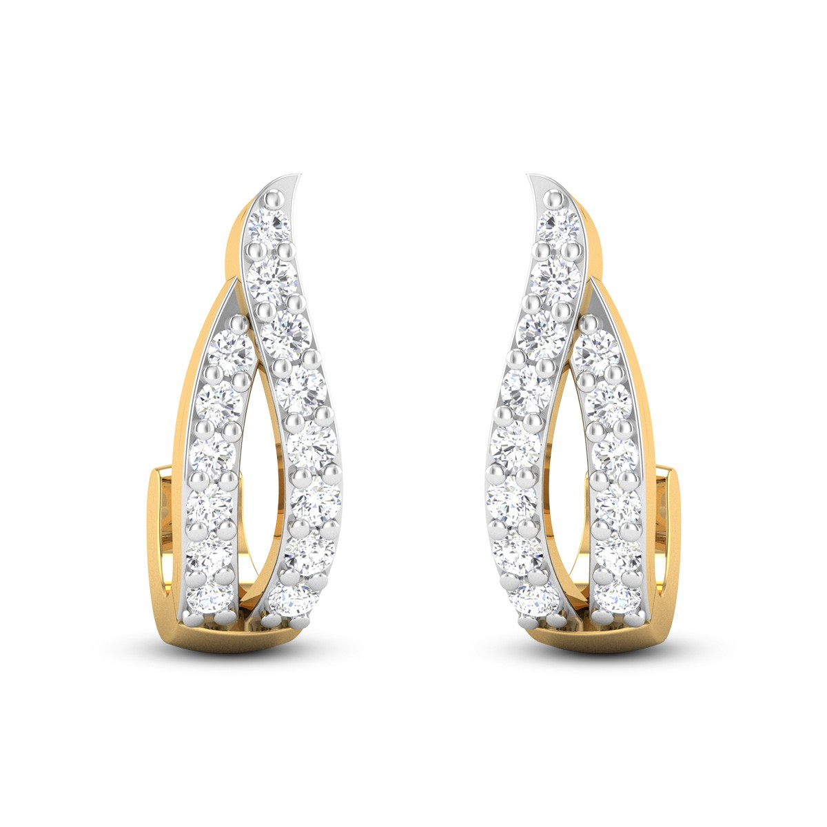 Dancing Flames Diamond Earrings