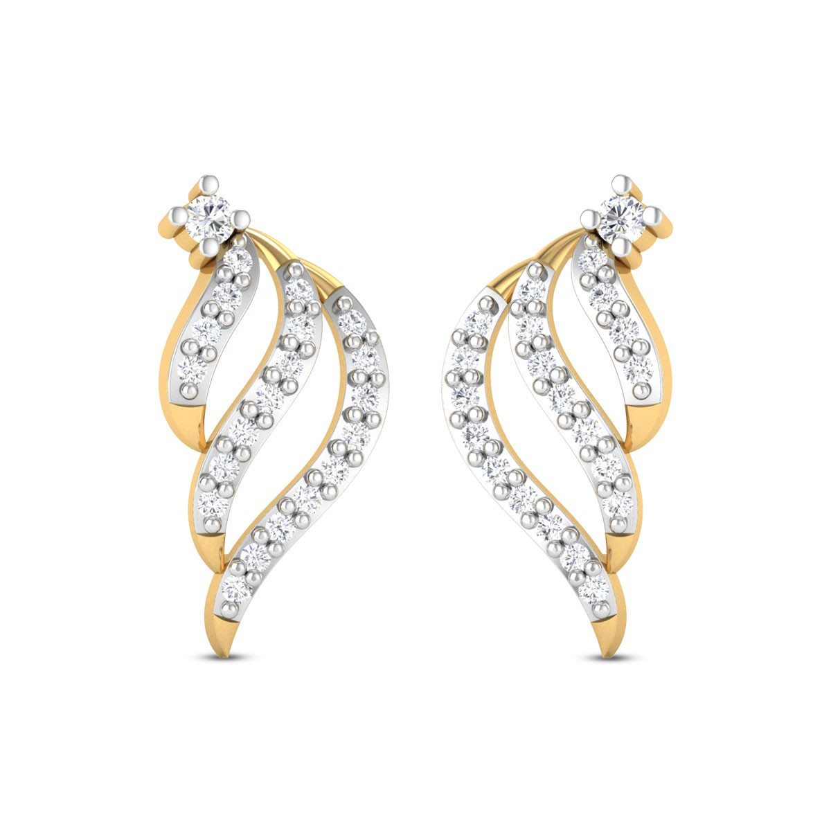 Morning Glory Diamond Earrings