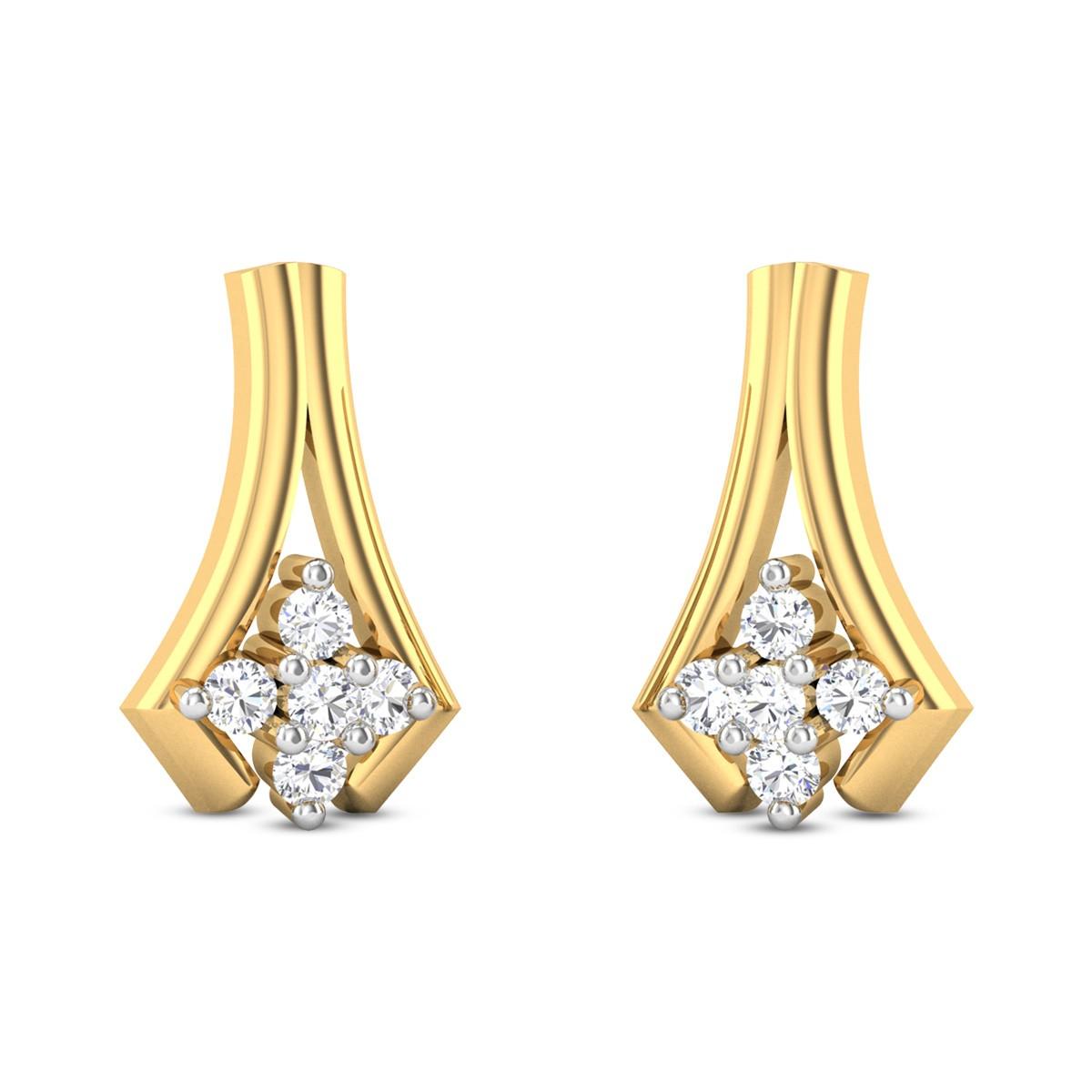 Wild Carnation Diamond Earrings