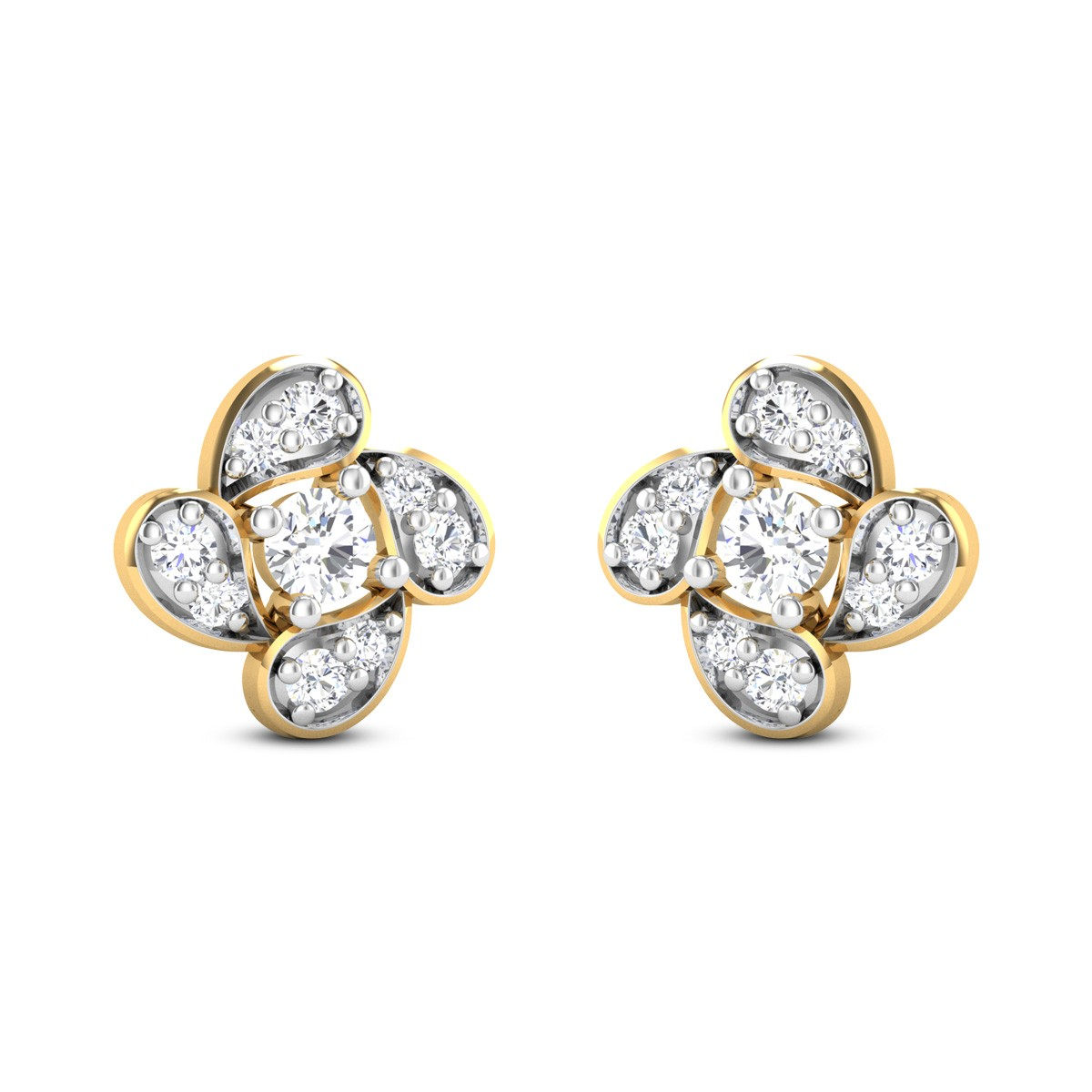 Swatantar Diamond Stud Earrings