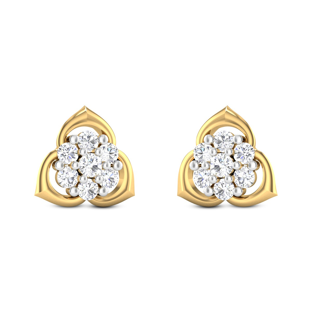 Gold Fairy Diamond Earrings