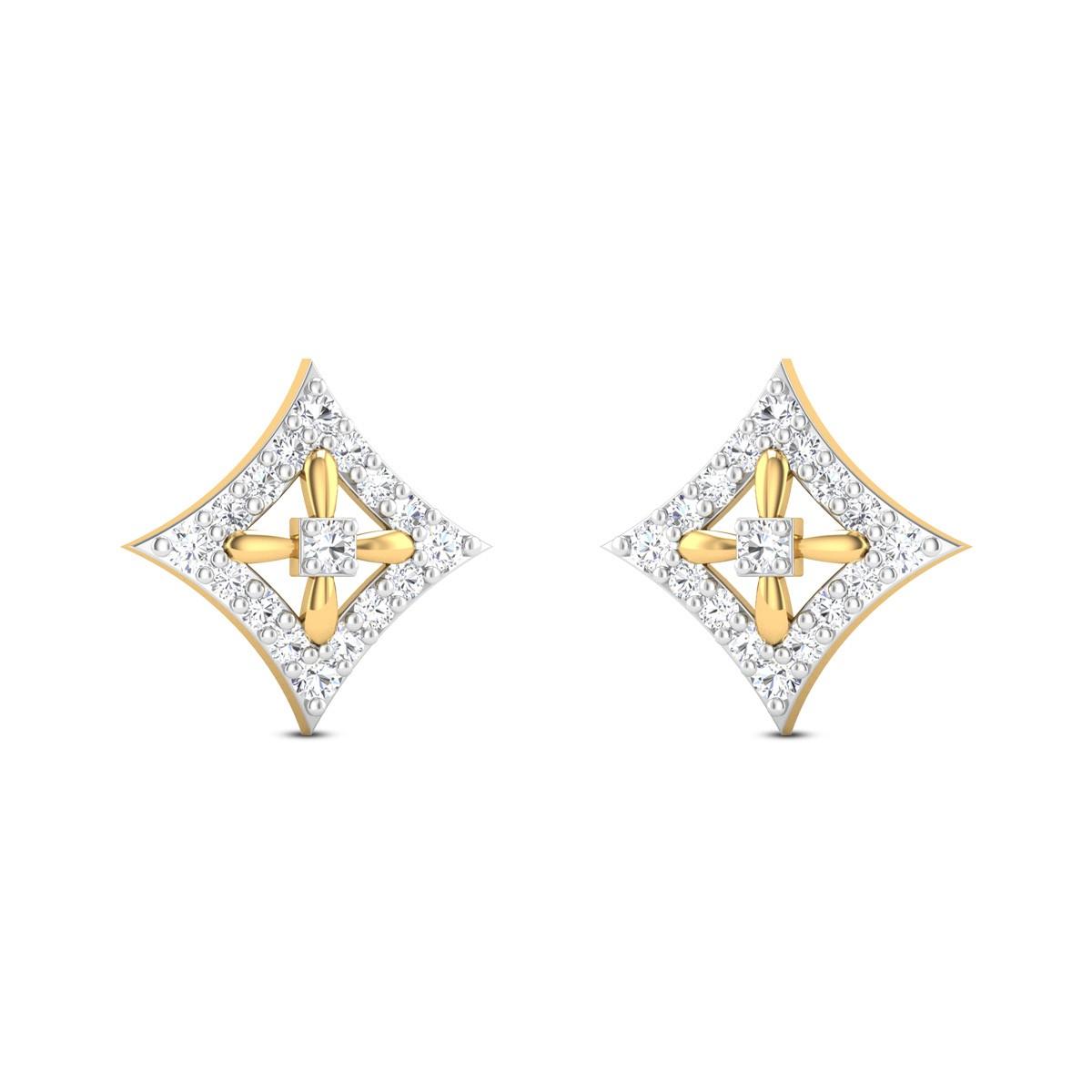 Gold crumb Diamond Earrings