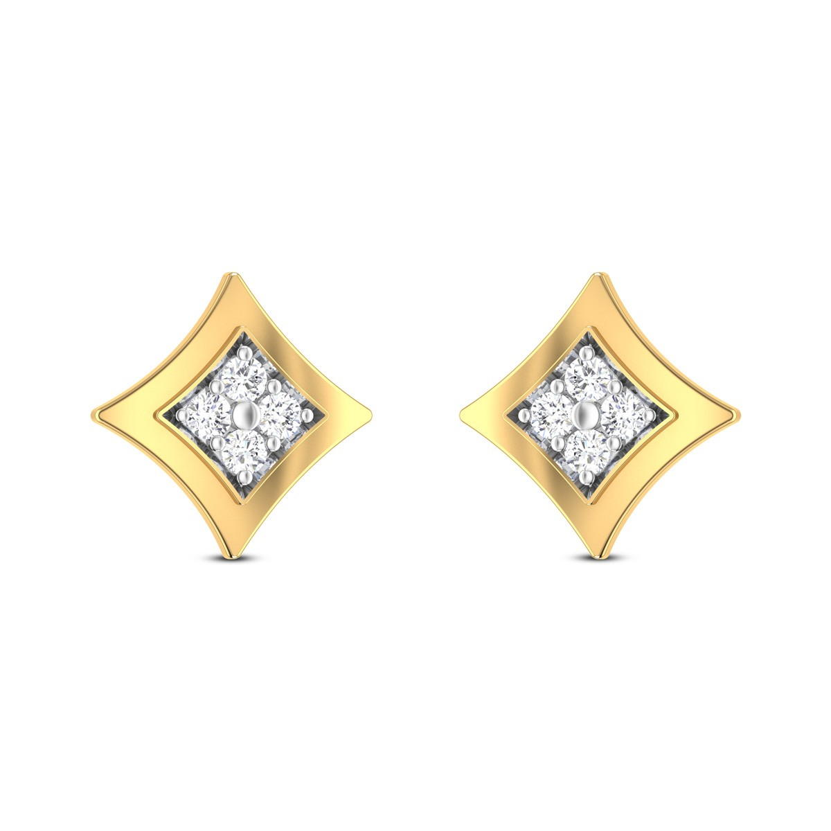 Amber Diamond Earrings
