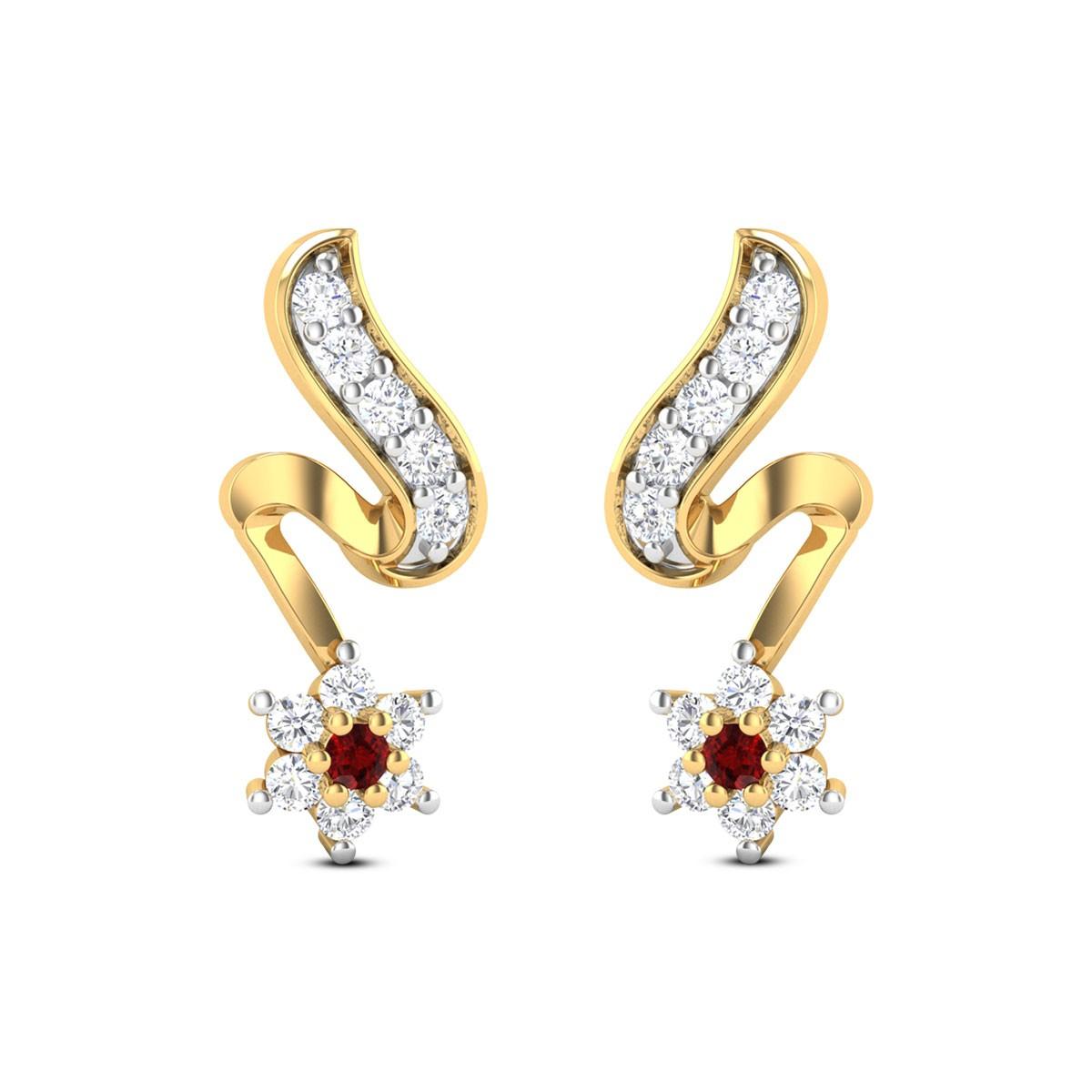 Falling Star Stud Earrings