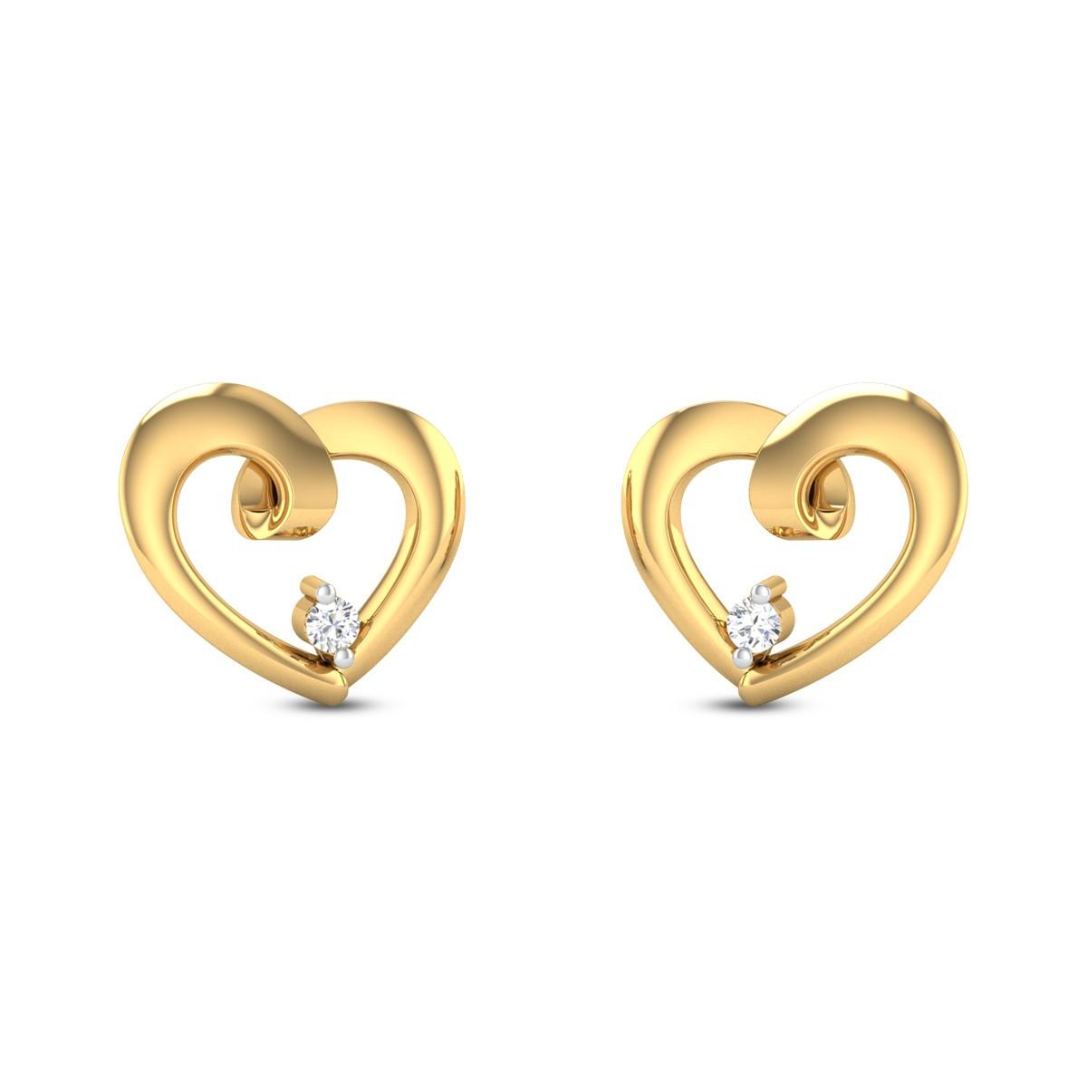 Twisted Heart Diamond Earrings