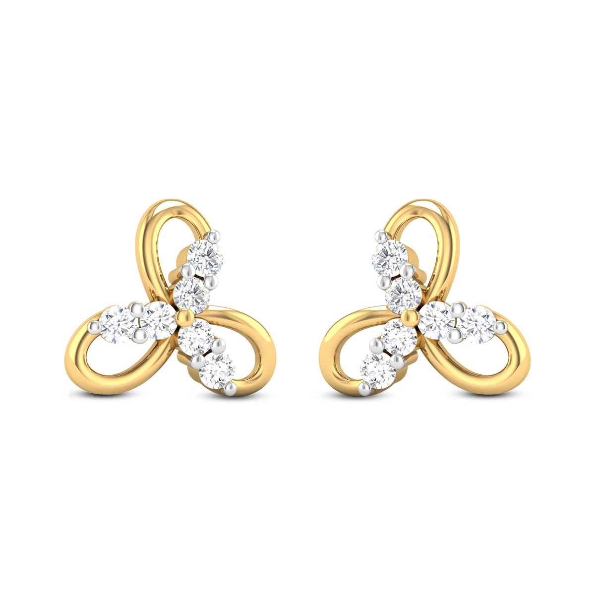 Genevieve Collection Diamond Earrings