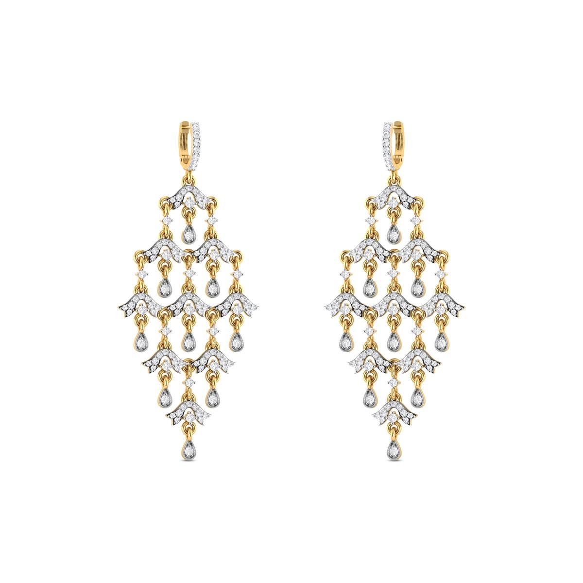 Dancing Dew Diamond Earrings