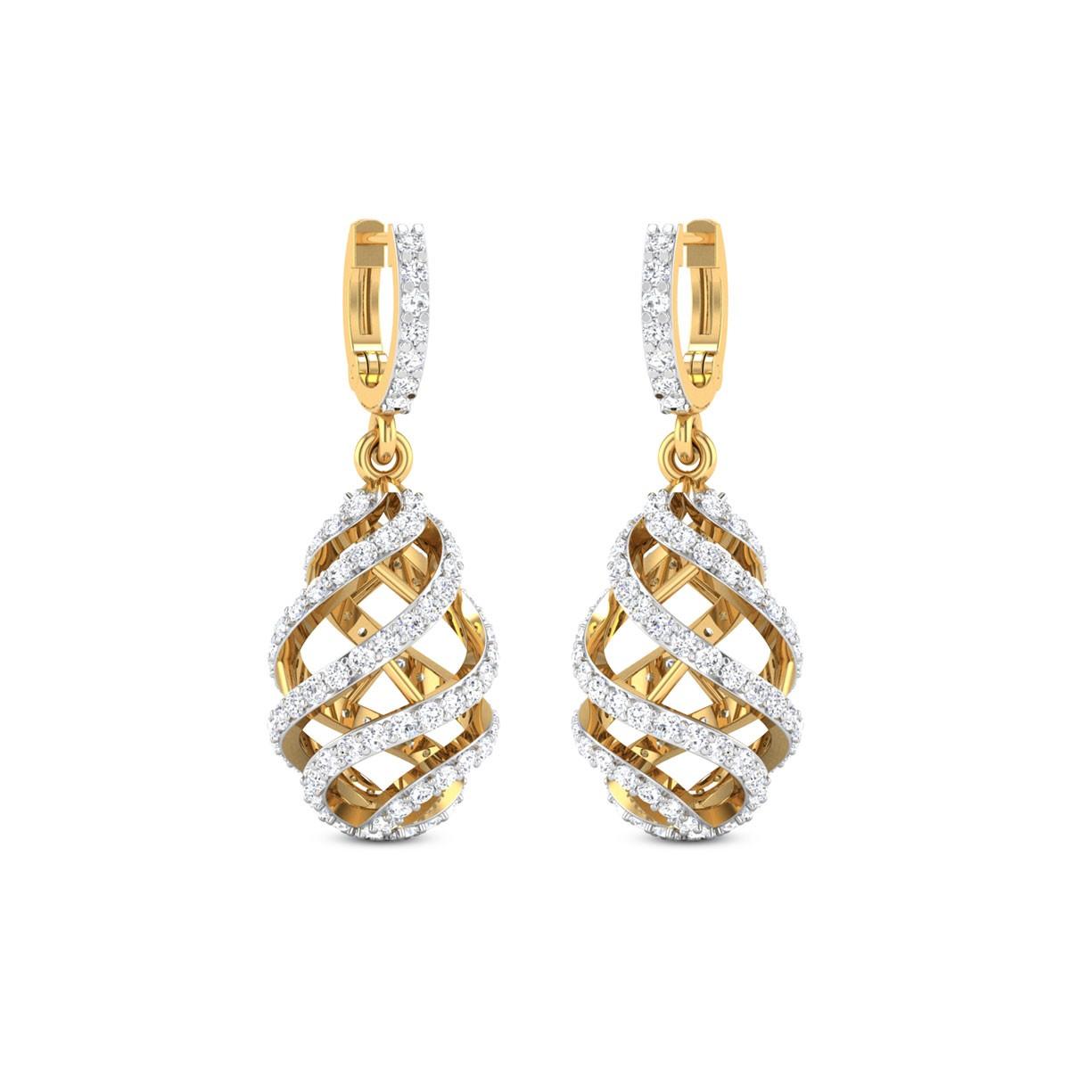 Hanging Cage Diamond Earrings