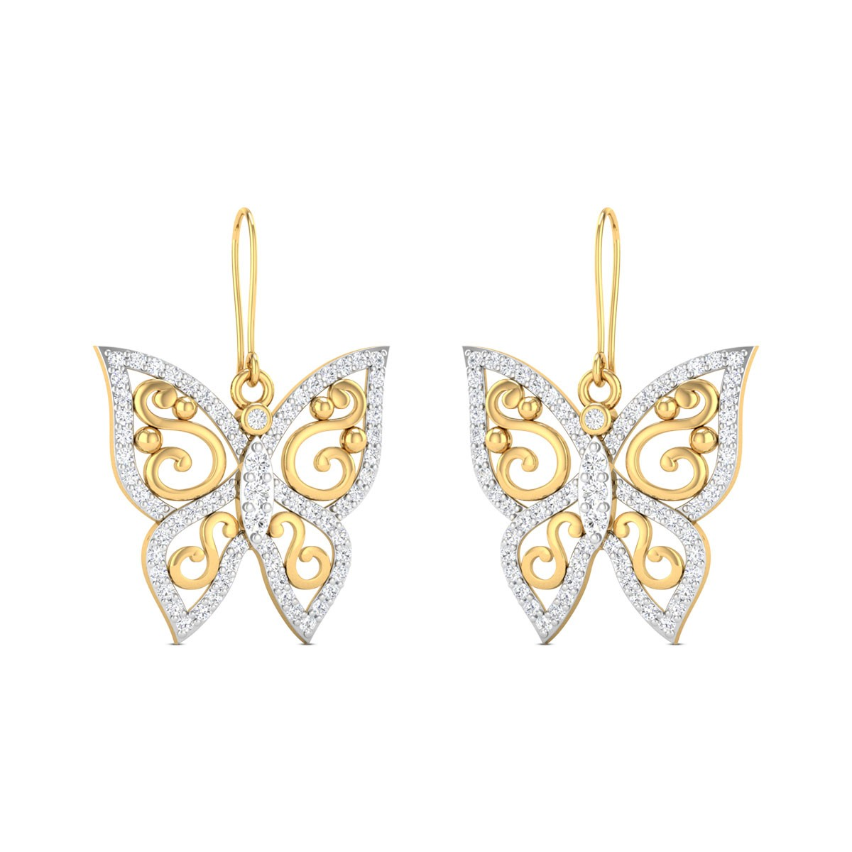 Buy Tess Diamond Earrings in 6.33 Grams Gold Online