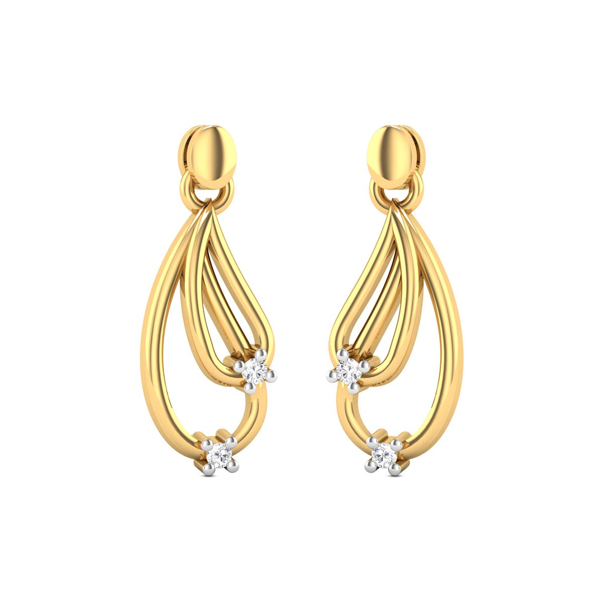 Rylin Diamond Hanging Earrings