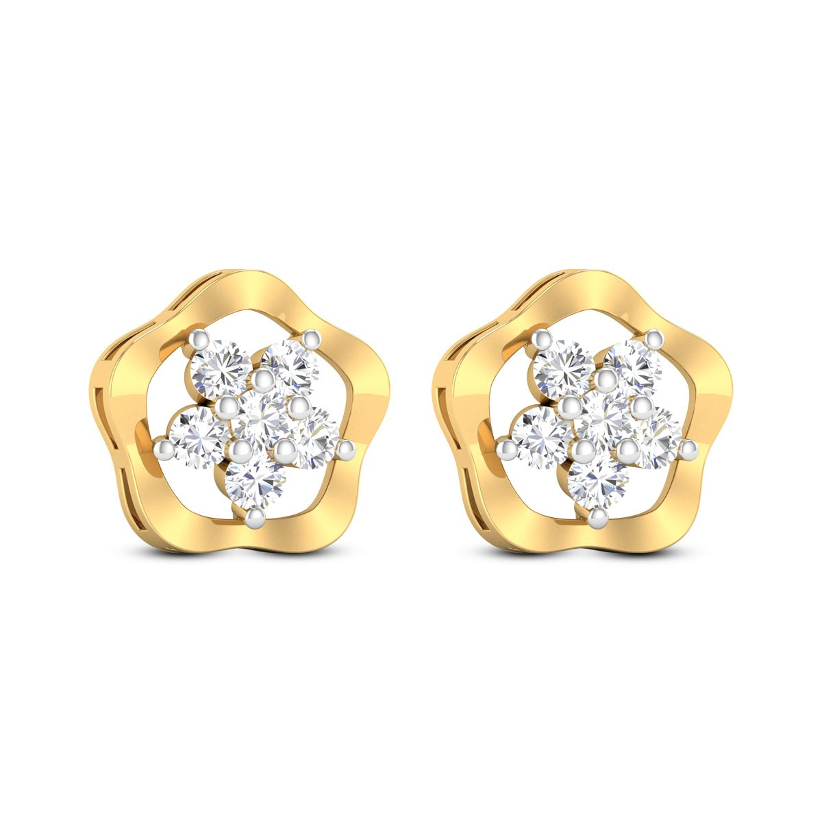 Fendi Diamond Earrings