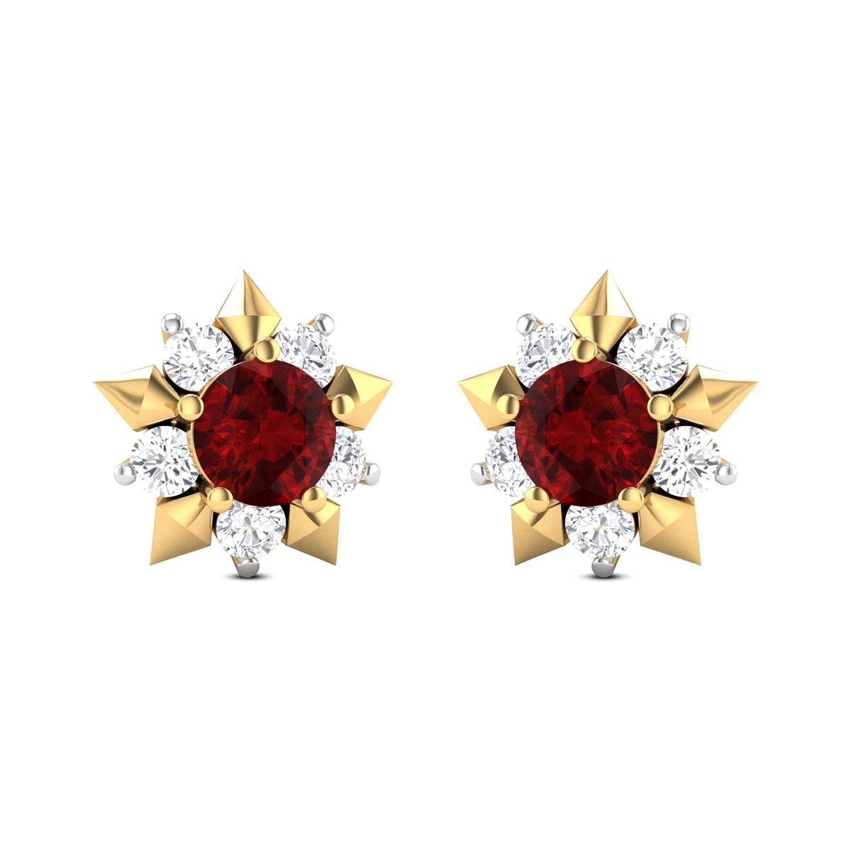 Blooming Kamelia Stud Earrings