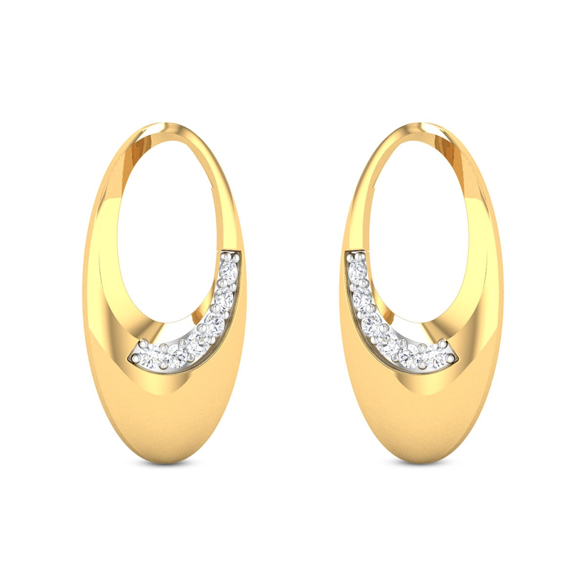 Nitza Oval Stud Earrings