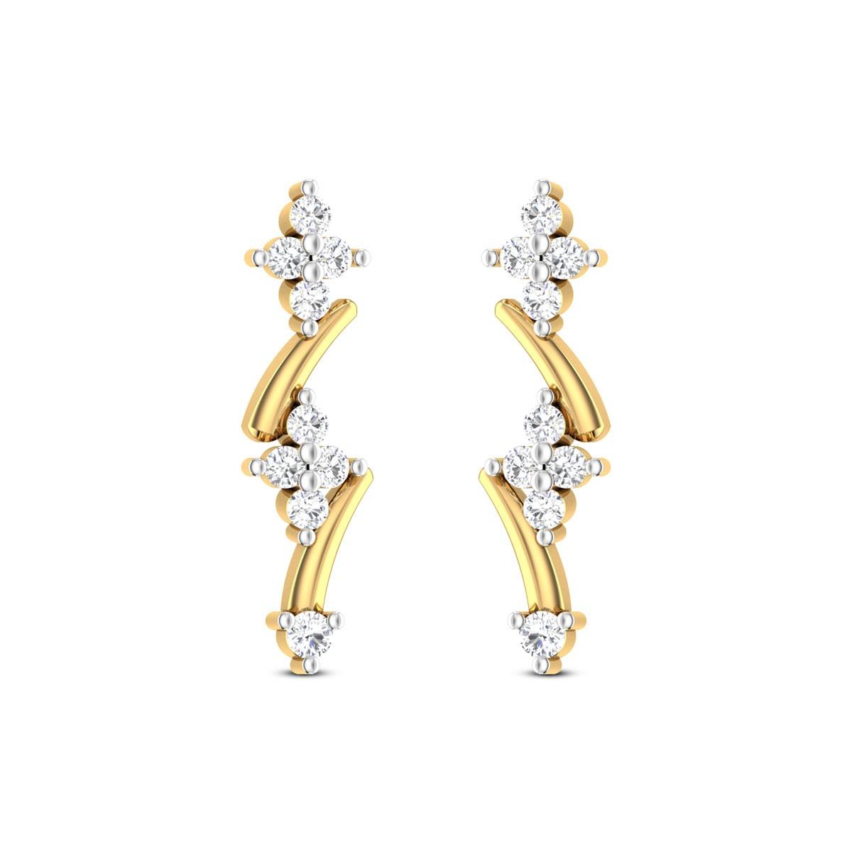 Floral Garland Stud Earrings