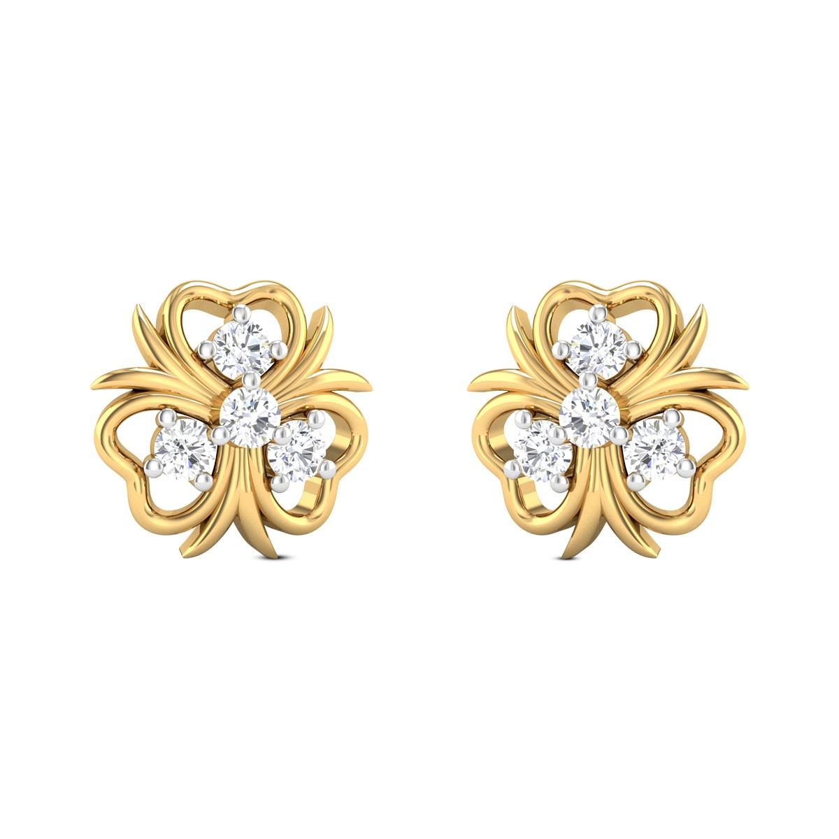 Evadne Floral Stud Earrings