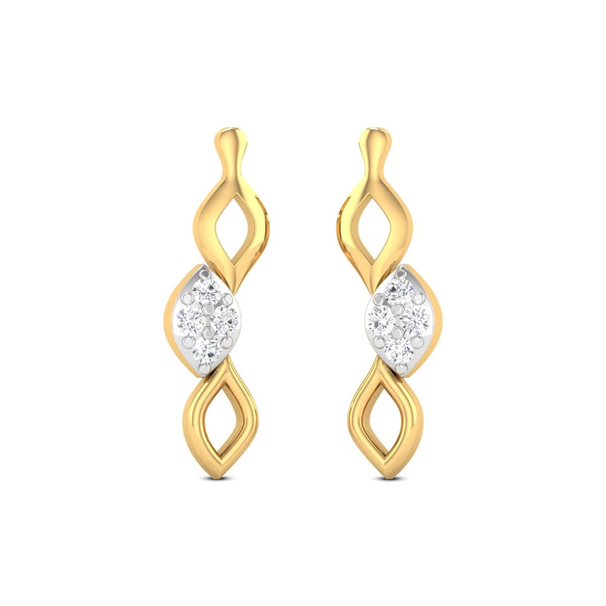 Skew Lines Diamond Earrings