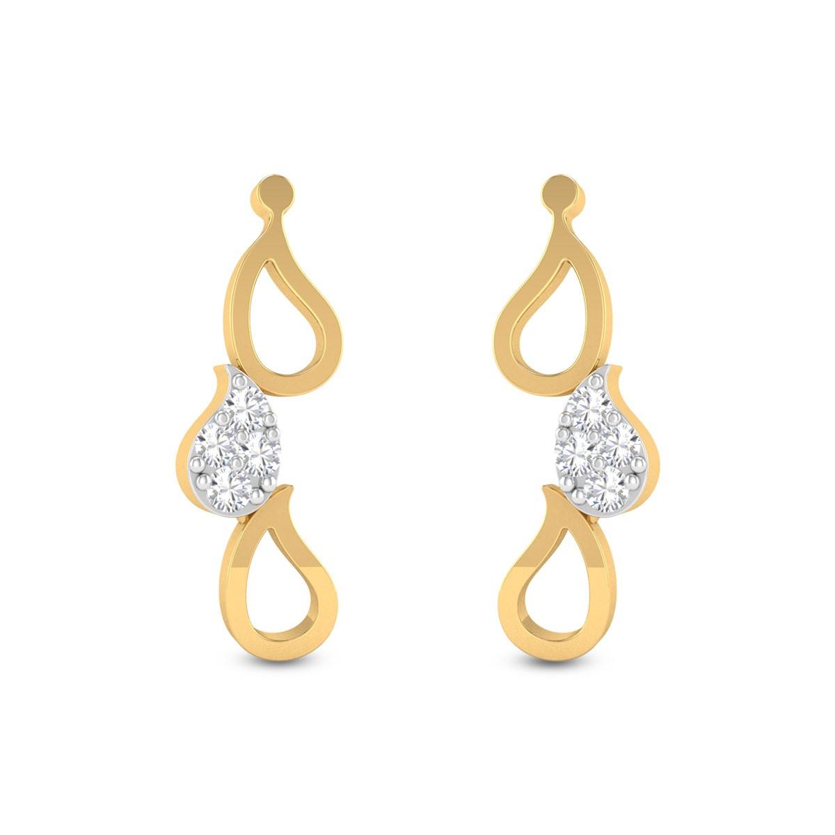 Right Latitude Diamond Earrings