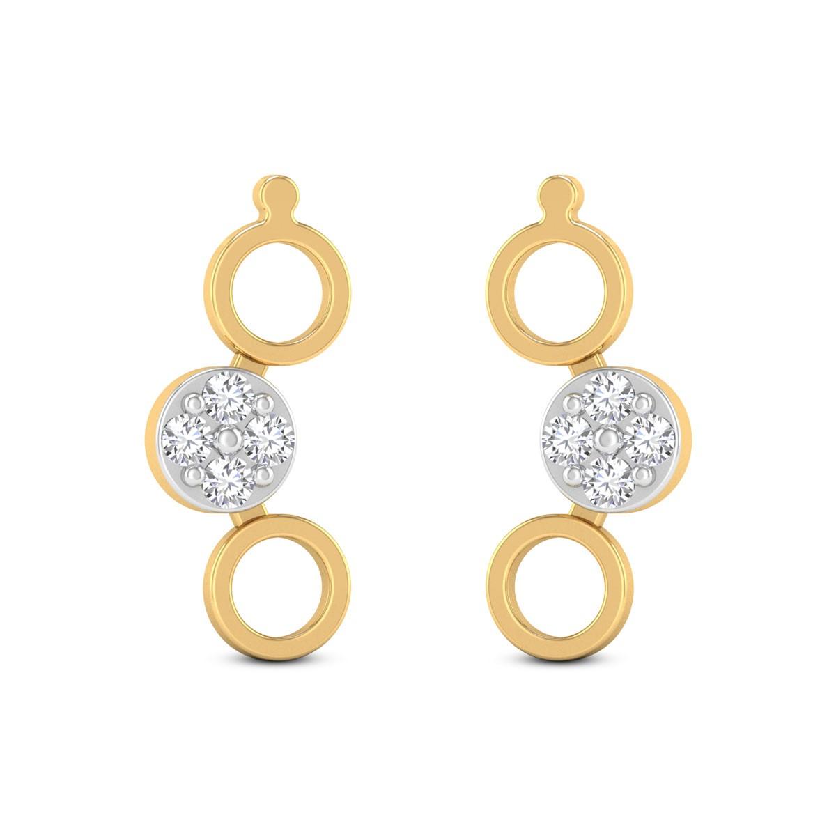Minor Circles Diamond Earrings