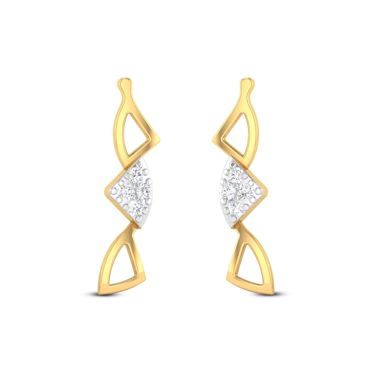 Congruent Triangles Diamond Earrings