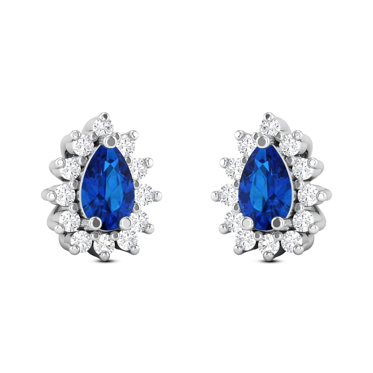 Royal Blue Diamond Earrings