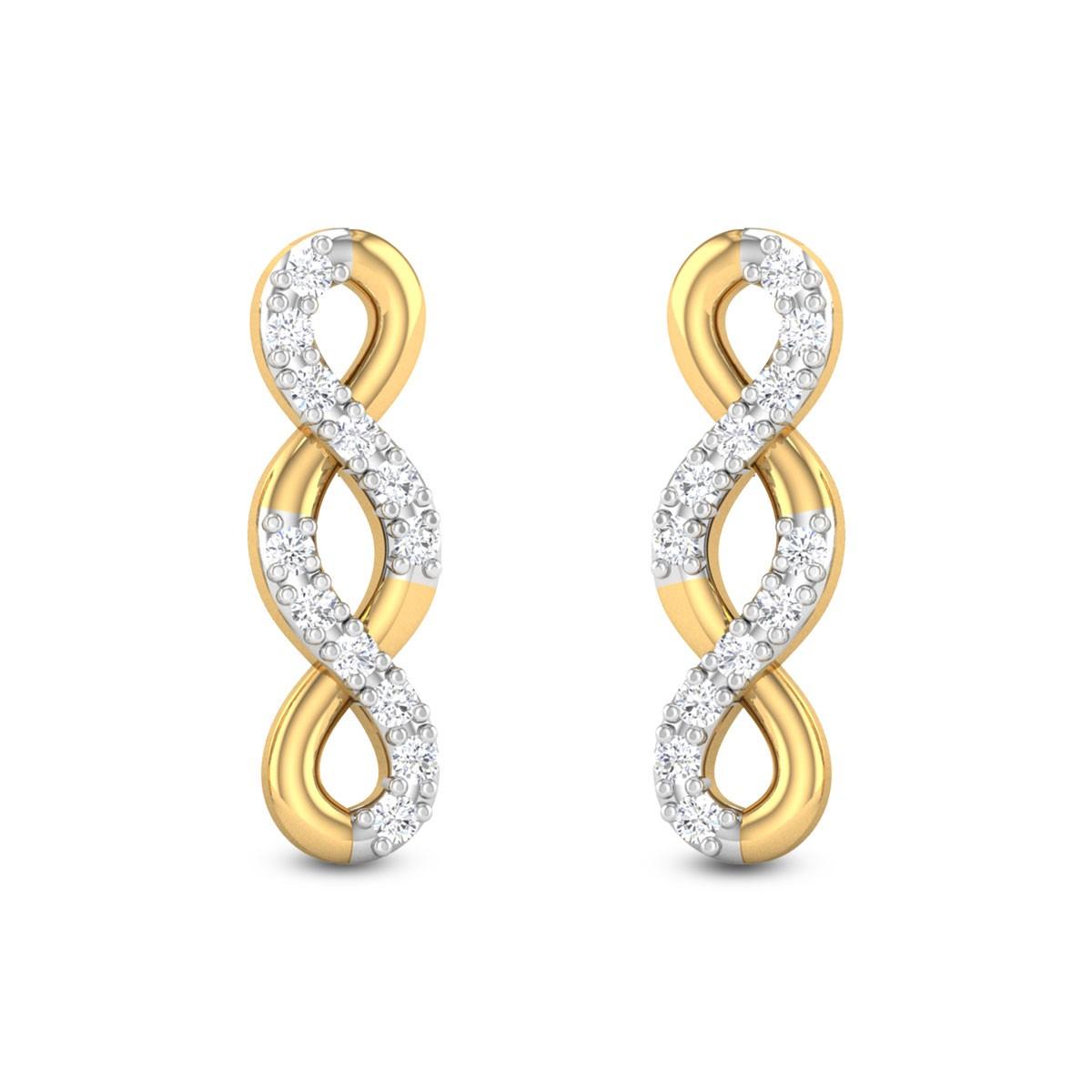 Golden Ambrosia Diamond Earrings
