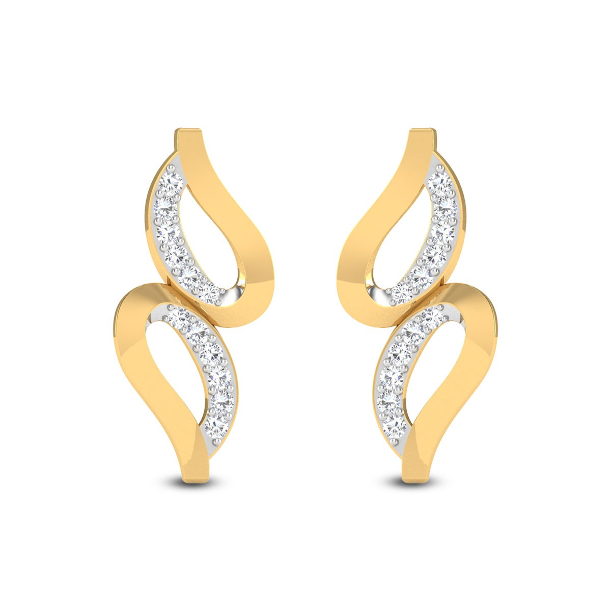 Asymetrica Diamond Earrings