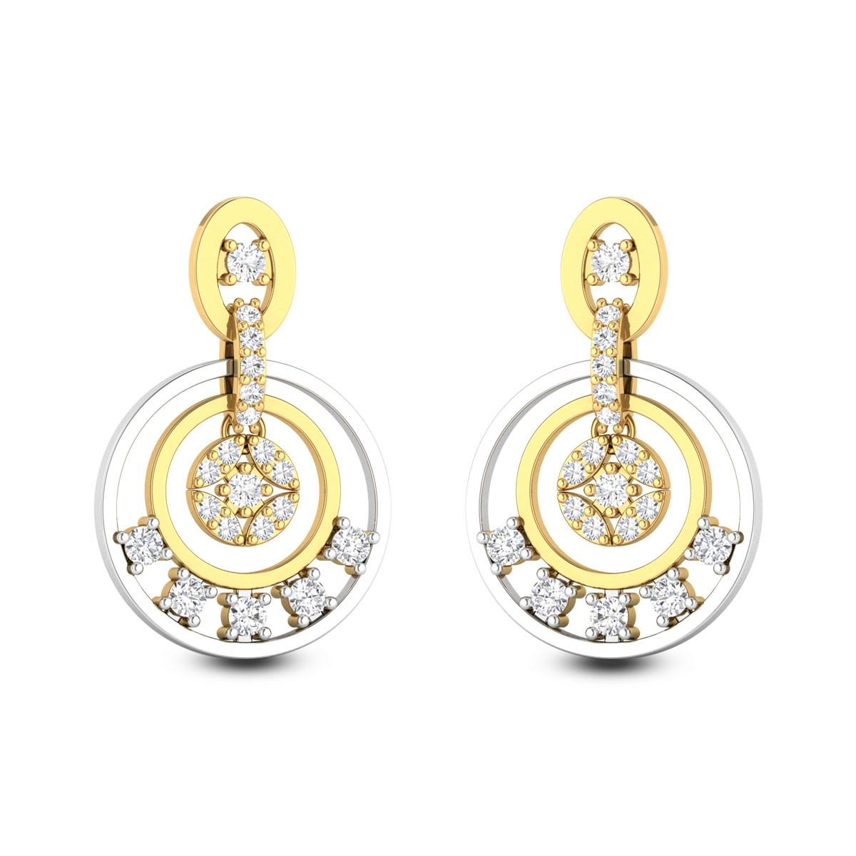 Red Lotus Diamond Earrings