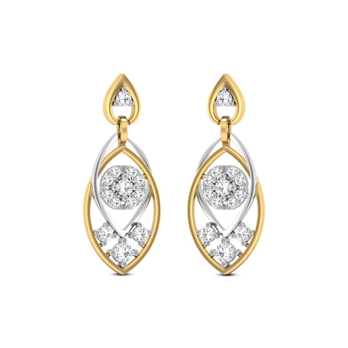 Anuloma Diamond Earrings