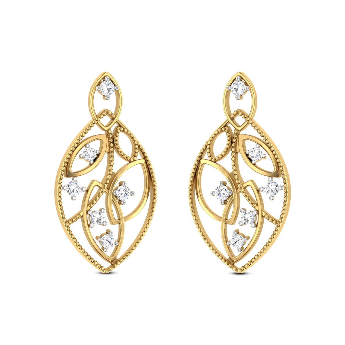 Entrancing Beau Diamond Earrings