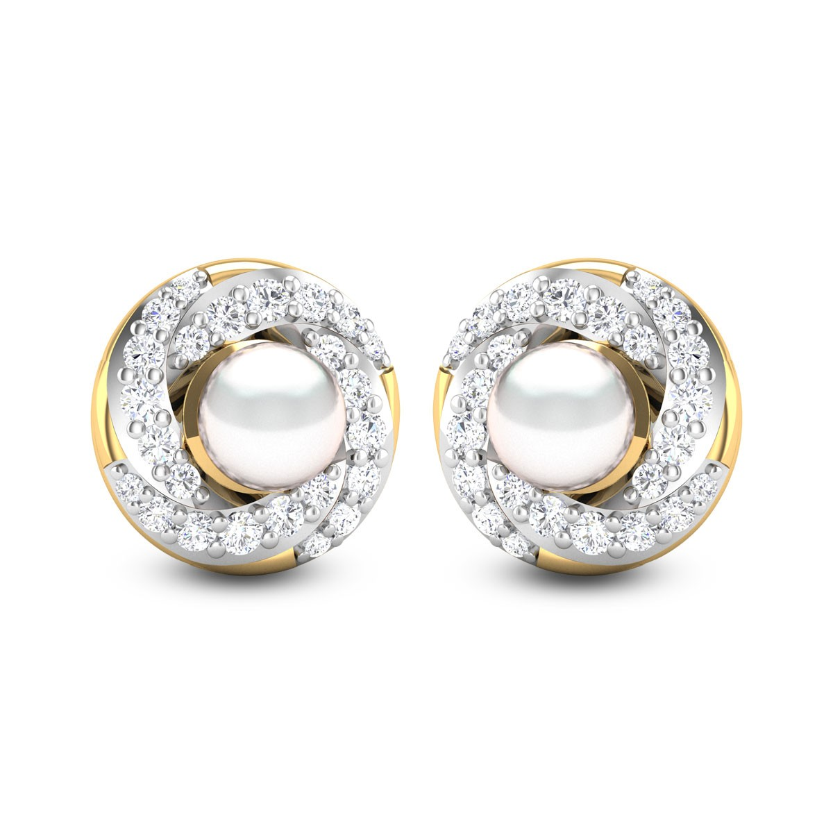 Pearl Delight Diamond Earrings