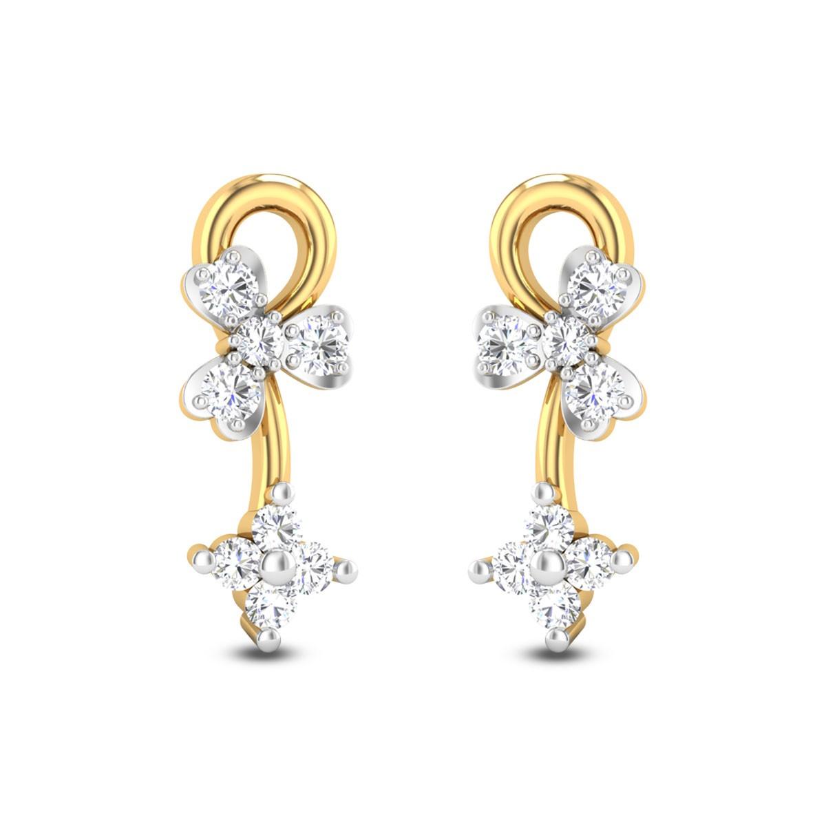Dual Orchid Diamond Earrings