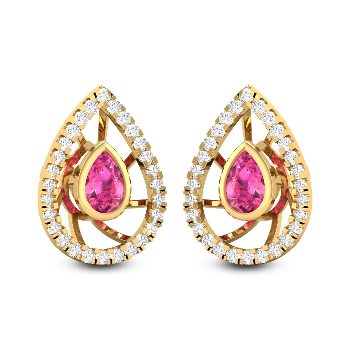 Jarred Diamond Earrings