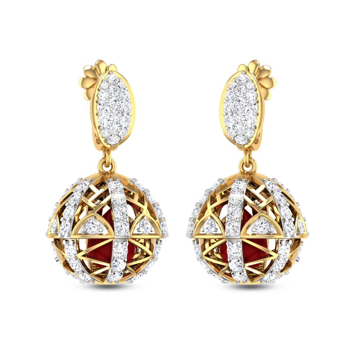 Dropping Balls Diamond Earrings