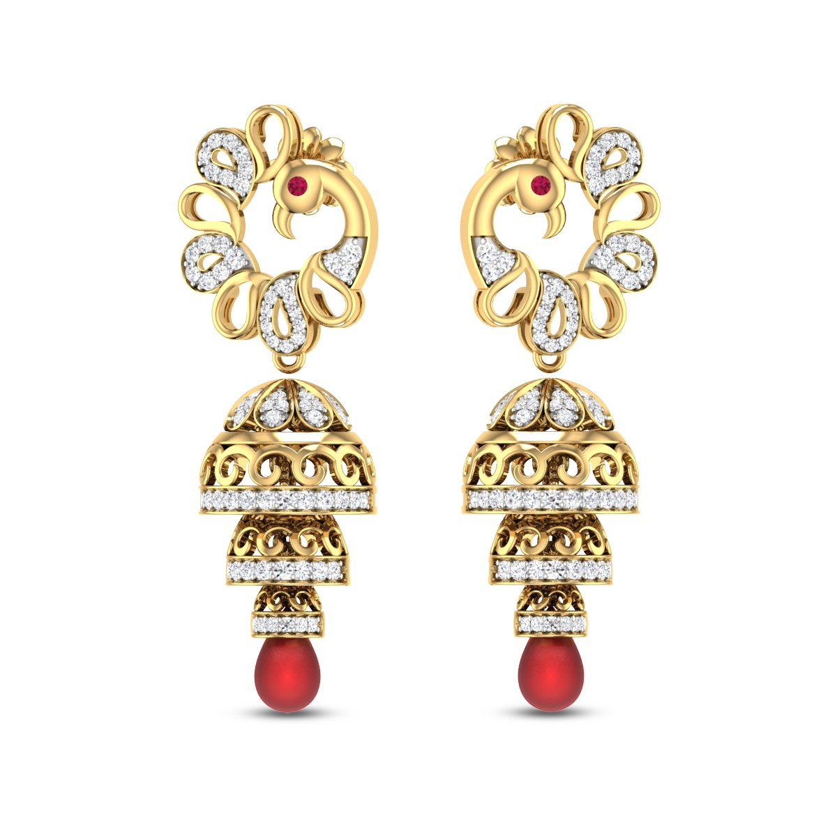 Chandraki Diamond Jhumkas