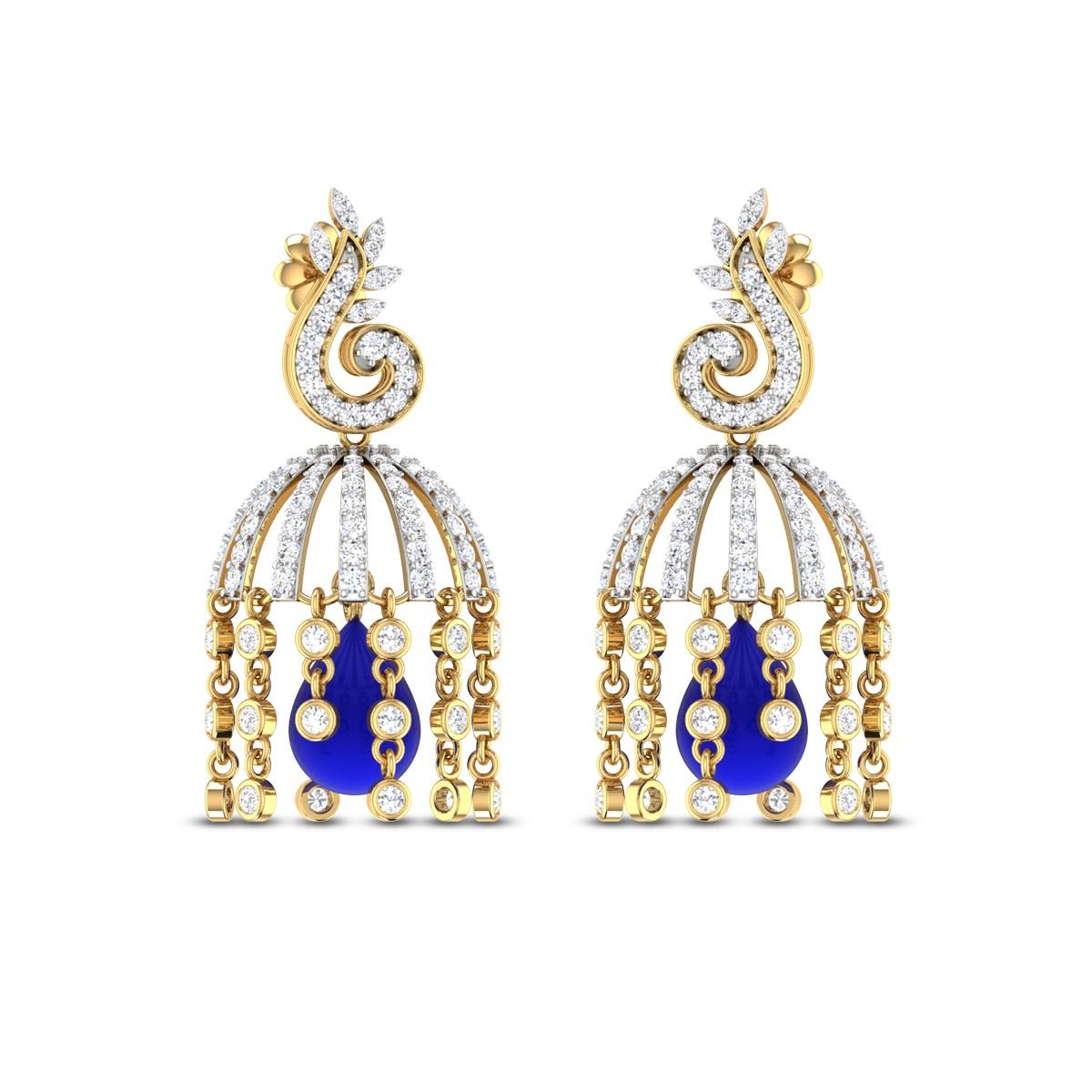 Fuchsia Diamond Earrings