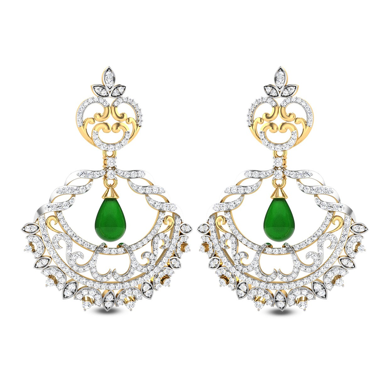 Tropaeolum Diamond Earrings