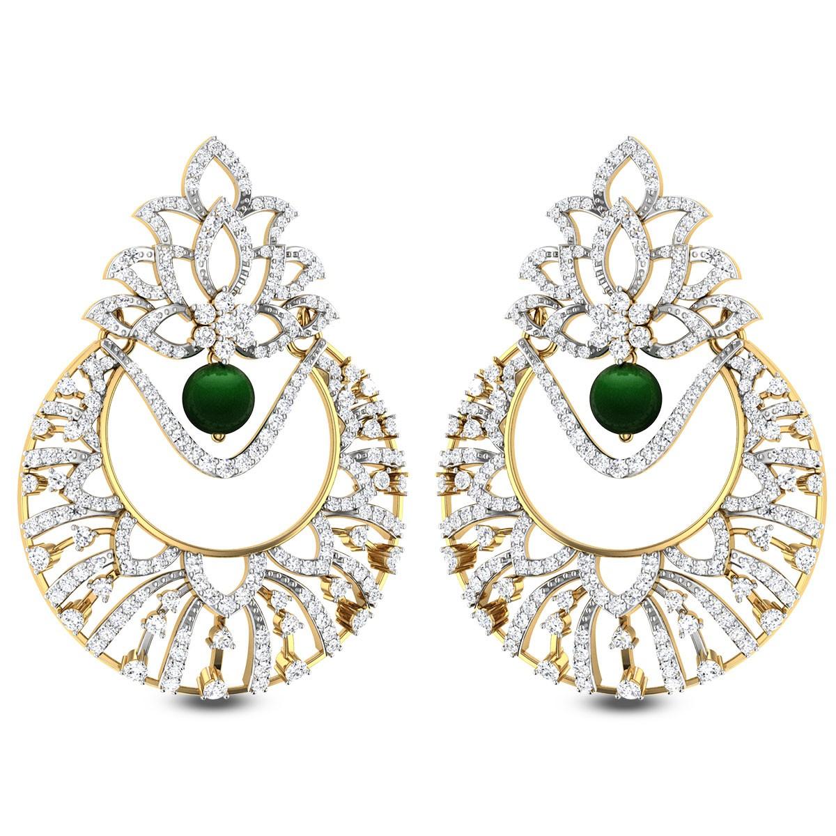Triteleia Diamond Earrings