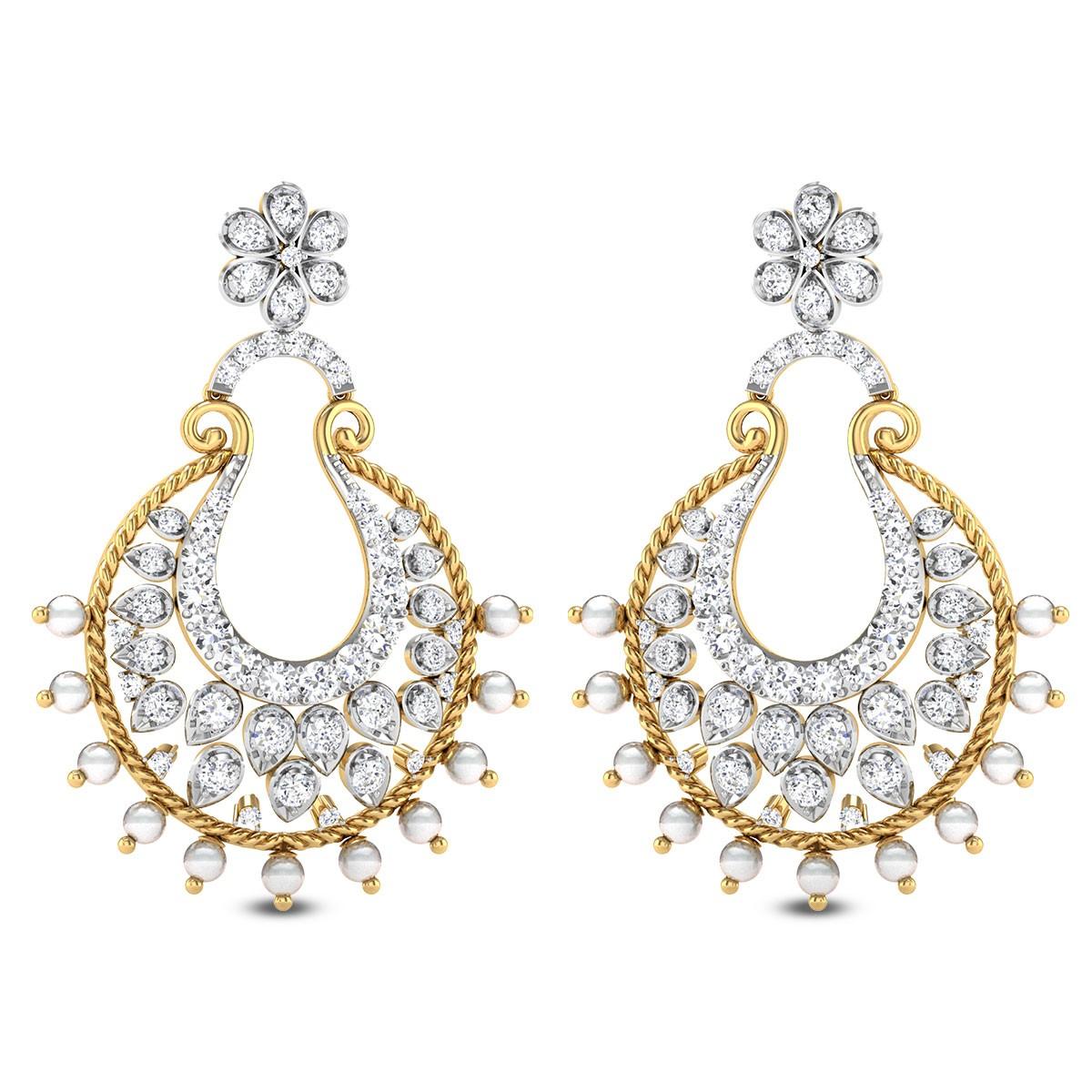 Trachelium Diamond Earrings