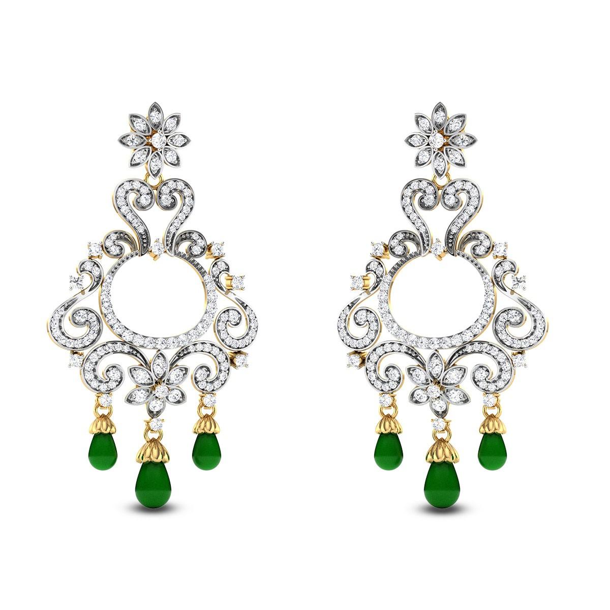 Gladiolus Diamond Earrings