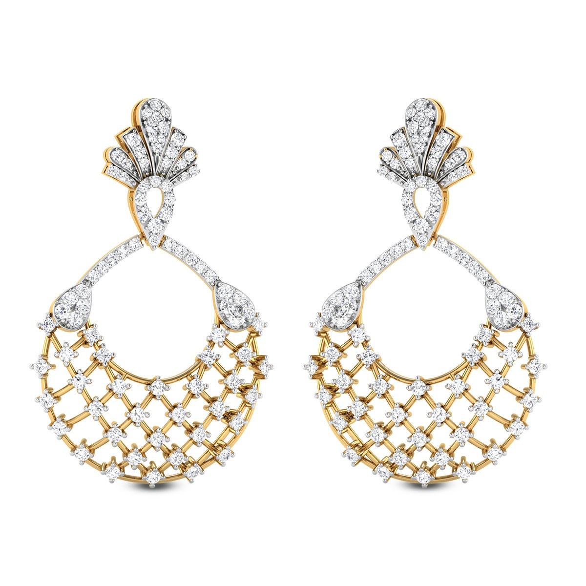 Sparkling Honeycomb Diamond Earrings