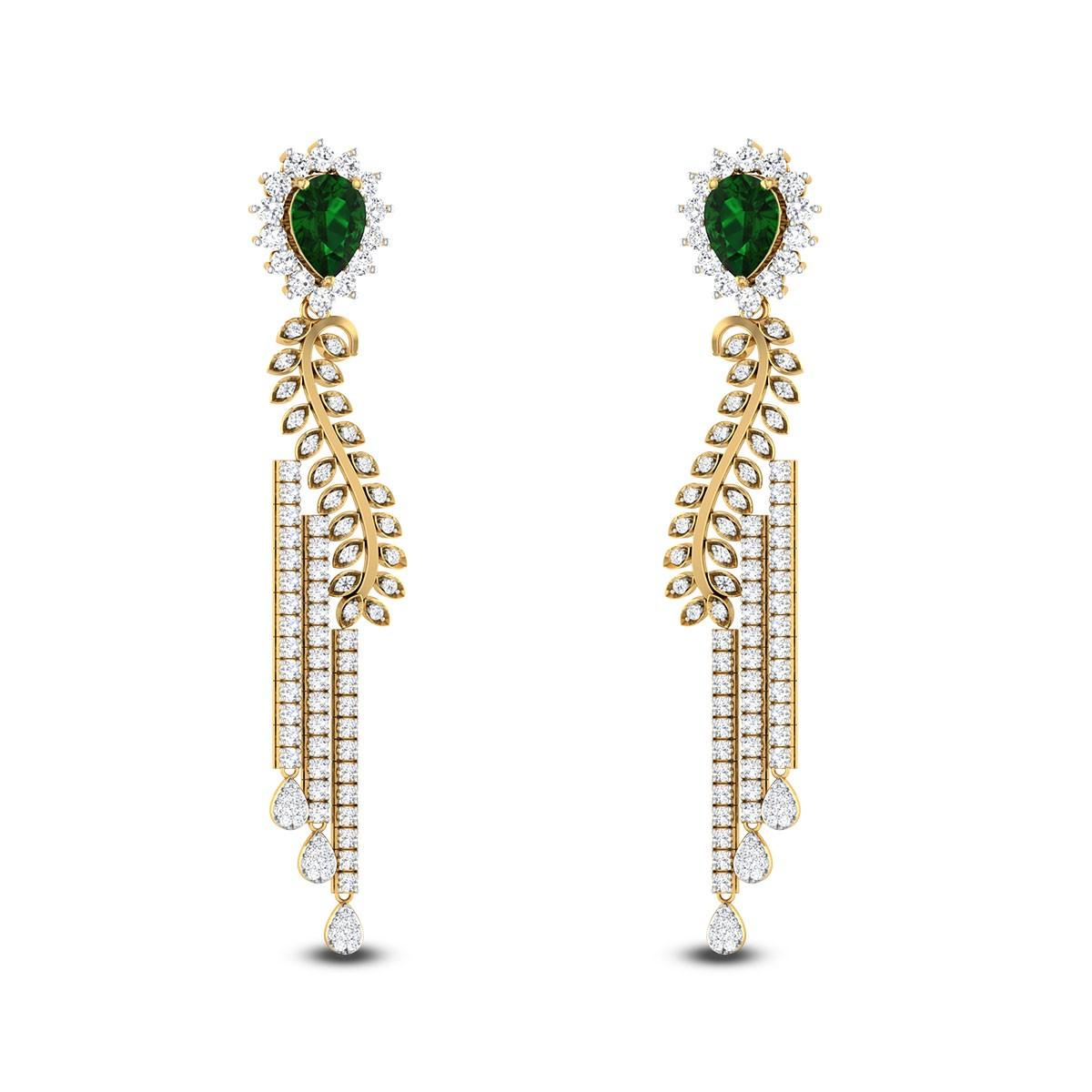Elegant Lady Diamond Earrings