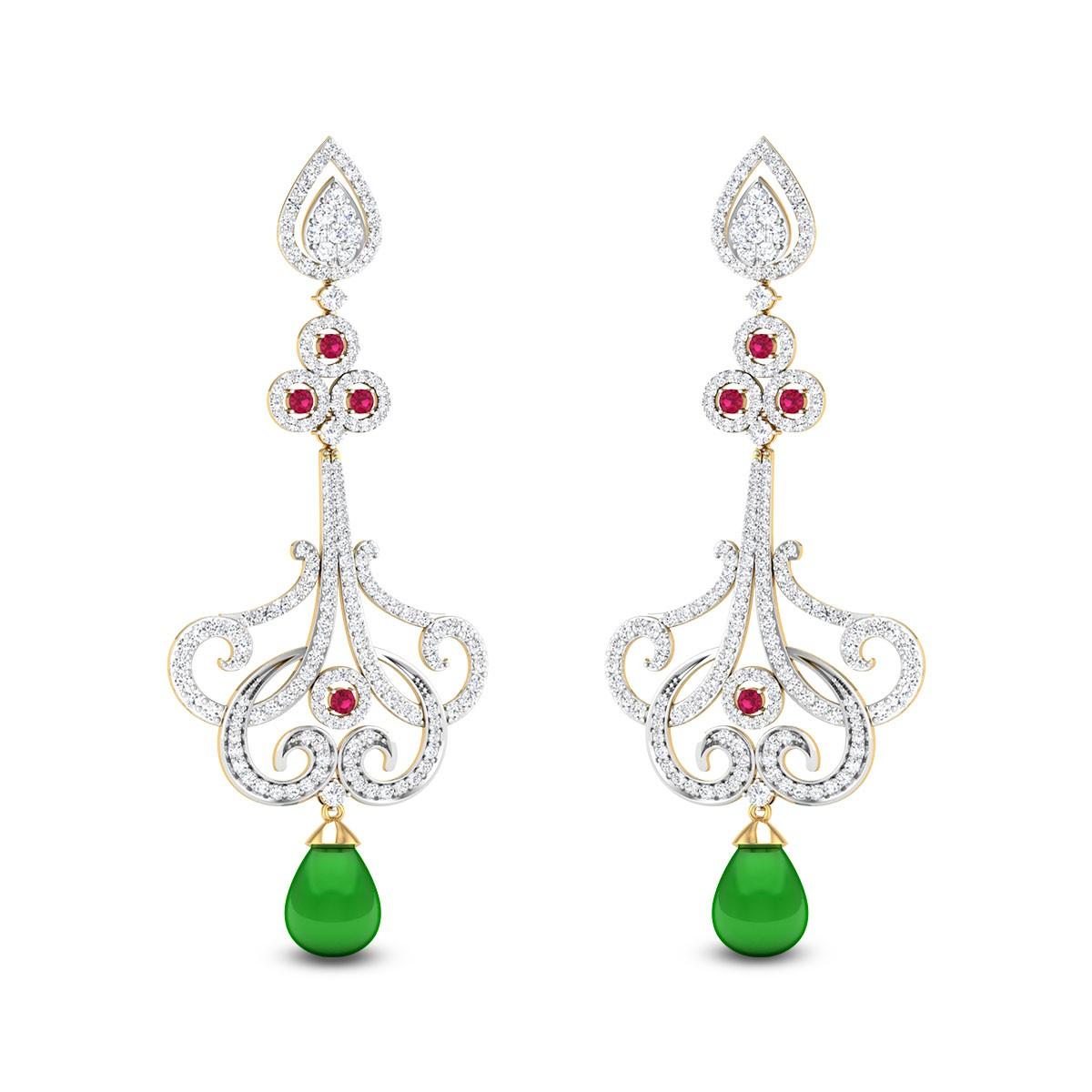 Rangoli Diamond Earrings